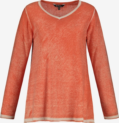 Ulla Popken Pullover in creme / mandarine, Produktansicht