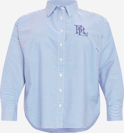 Lauren Ralph Lauren Blusa en azul / blanco, Vista del producto