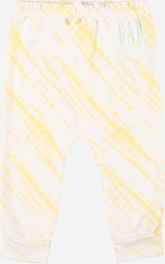 GAP Spodnie w kolorze jasnoniebieski / żółty / białym, Podgląd produktu