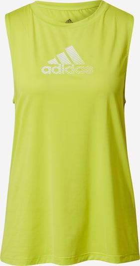 ADIDAS PERFORMANCE Haut de sport en jaune / blanc, Vue avec produit