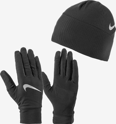 NIKE Accessoires Mütze & Handschuhe 'Essential Running  Set' in schwarz / weiß, Produktansicht