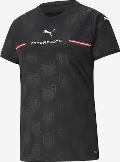 PUMA Camiseta de fútbol 'Österreich' en gris oscuro / rojo fuego / negro / blanco, Vista del producto