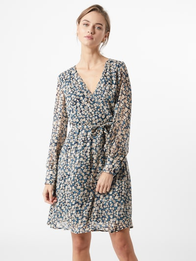 SISTERS POINT Kleid 'GERDO' in blau / nachtblau / rosa: Frontalansicht