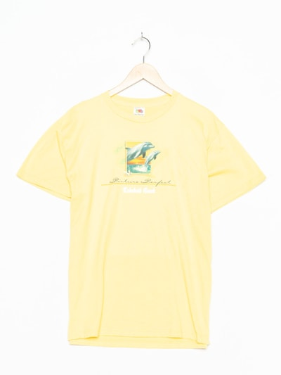 FRUIT OF THE LOOM T-Shirt in XL in gelb, Produktansicht