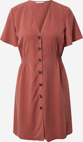Robe-chemise 'Magne' ONLY en marron
