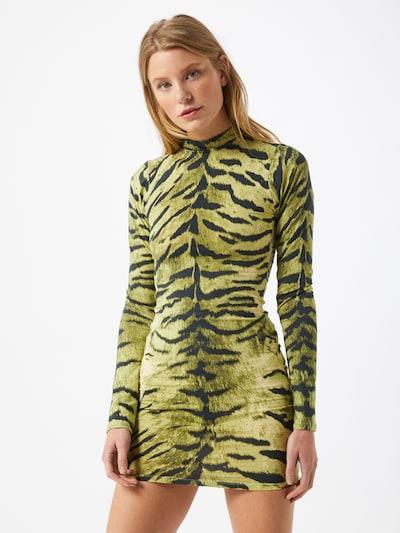 Motel Kleid in grün / schwarz, Modelansicht