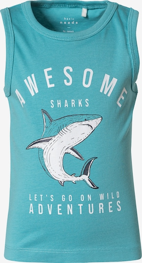 NAME IT Koszulka 'Vagno' w kolorze aqua / białym, Podgląd produktu