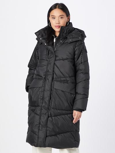 TOM TAILOR DENIM Mantel 'Arctic' in schwarz, Modelansicht