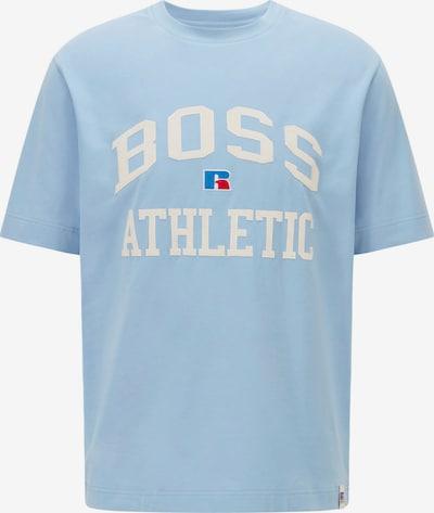 BOSS Casual T-Shirt in blau / hellblau / weiß, Produktansicht