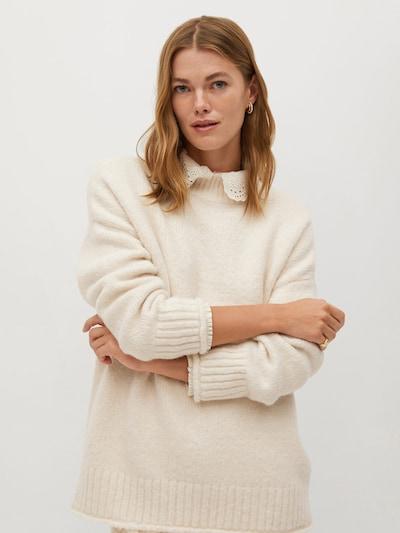 MANGO Pullover 'Sant' in weiß, Modelansicht