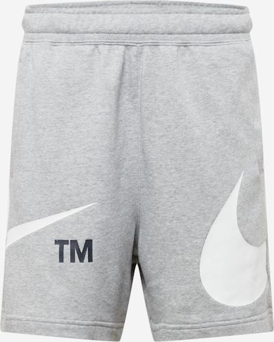 Nike Sportswear Sportske hlače u siva melange / crna / bijela, Pregled proizvoda