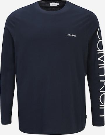Calvin Klein Big & Tall T-Shirt in Blau