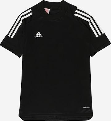 melns ADIDAS PERFORMANCE Sporta krekls