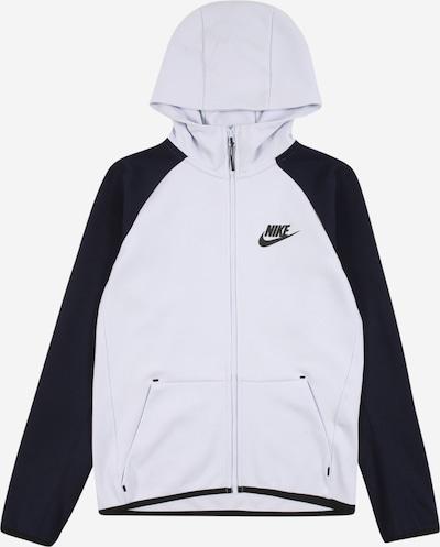 Nike Sportswear Fleecejacke in schwarz / weiß, Produktansicht