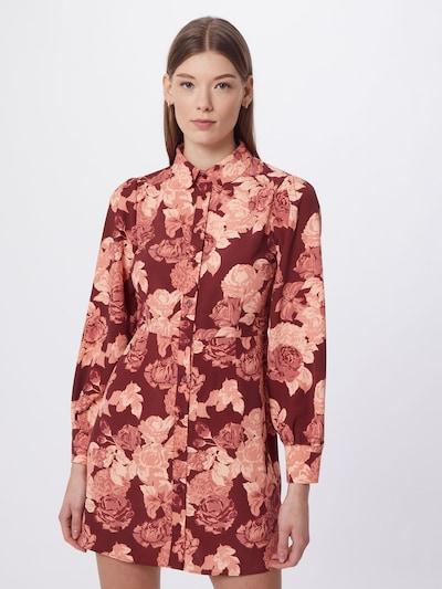 GLAMOROUS Košilové šaty - růže / krvavě červená, Model/ka