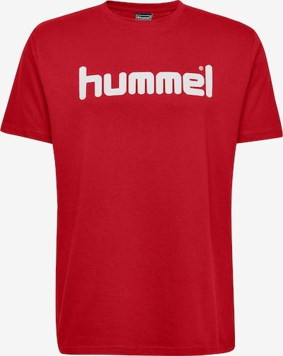 Hummel Trainingsshirt in rot / weiß: Frontalansicht