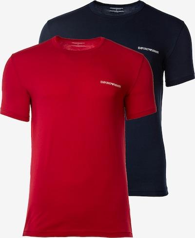 Emporio Armani Shirt in de kleur Navy / Bloedrood / Wit, Productweergave