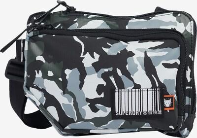 Superdry Schoudertas in de kleur Grijs / Zwart / Wit, Productweergave