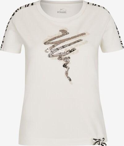 Rabe Shirt mit Glitzer-Druck und Rundhalsausschnitt in creme, Produktansicht