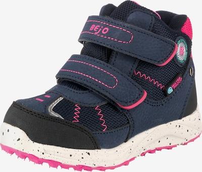 BEjO Stiefel 'Bako' in dunkelblau / pink / schwarz, Produktansicht