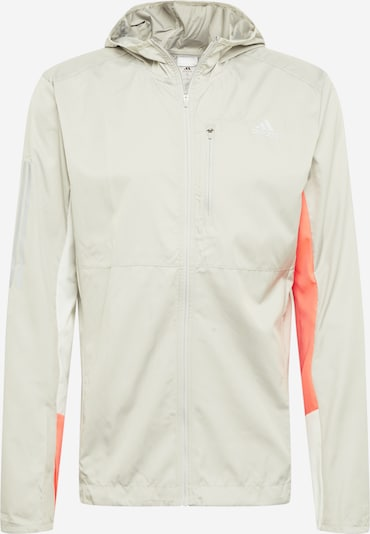 ADIDAS PERFORMANCE Laufjacke in grau / orange, Produktansicht