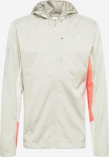 Sportinė striukė iš ADIDAS PERFORMANCE , spalva - pilka / oranžinė, Prekių apžvalga