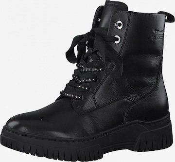 Tamaris Pure Relax Lace-Up Ankle Boots in Black