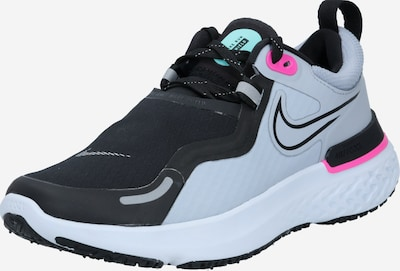 NIKE Chaussure de course 'React Miler Shield' en bleu clair / rose / noir, Vue avec produit