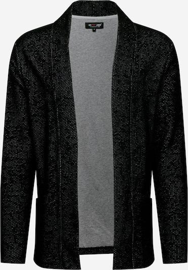 Key Largo Strickjacke 'LUCIO' in schwarzmeliert, Produktansicht