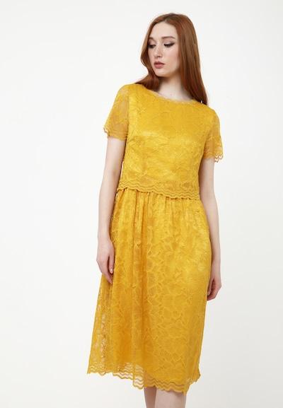 Madam-T Cocktailkleid 'Espera' in gelb, Modelansicht
