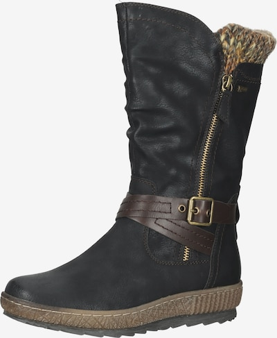Relife Stiefel in braun / gelb / oliv / schwarz, Produktansicht