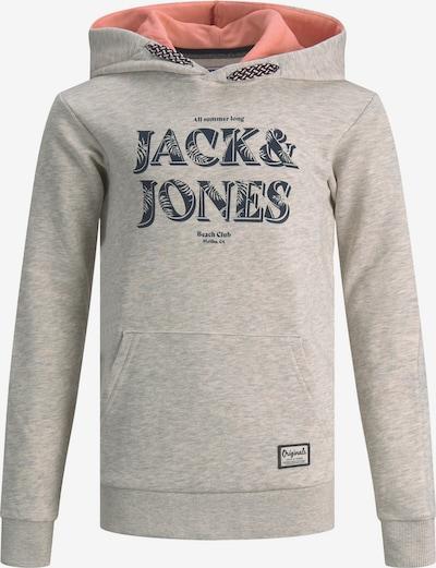 JACK & JONES Sweatshirt 'Sunny' in nachtblau / graumeliert / altrosa, Produktansicht