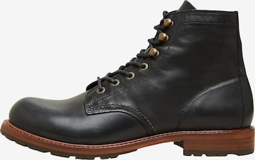 SELECTED HOMME Lace-up boots 'Roman' in Black