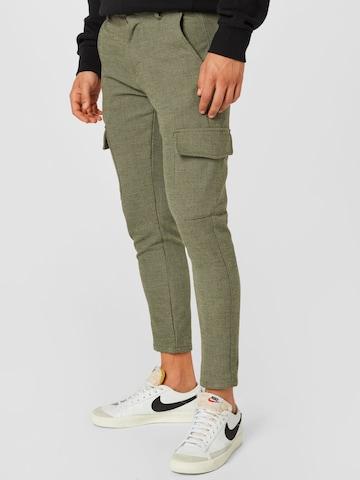!Solid Карго панталон в зелено