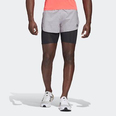 ADIDAS PERFORMANCE Sportbroek in de kleur Grijs / Abrikoos / Zwart: Vooraanzicht