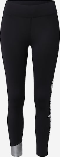 Champion Authentic Athletic Apparel Pantalon de sport en noir / argent / blanc, Vue avec produit