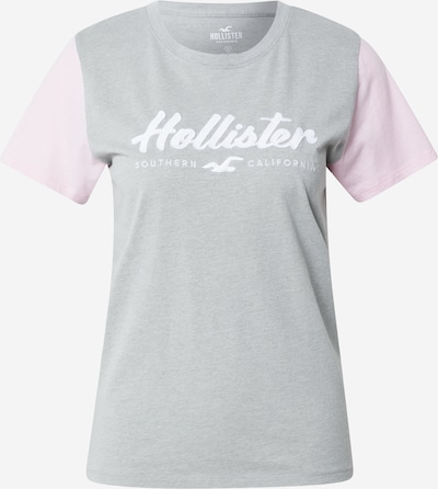HOLLISTER Shirt in grau / helllila / weiß, Produktansicht