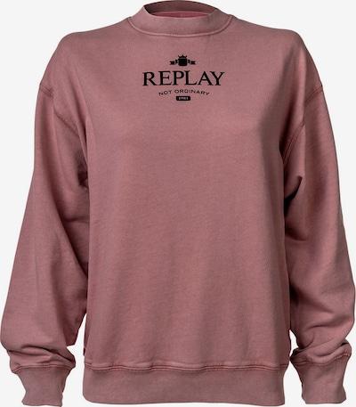 REPLAY Sweatshirt in Dusky pink / Black, Item view