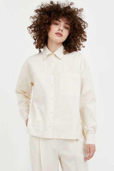 Finn Flare Hemdbluse in beige, Modelansicht