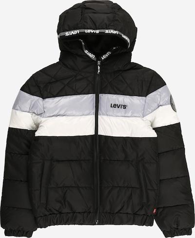 LEVI'S Prijelazna jakna u svijetlosiva / crna / bijela, Pregled proizvoda