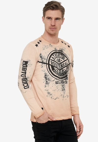 Rusty Neal Cooles Longsleeve mit großem Front Print in karamell: Frontalansicht