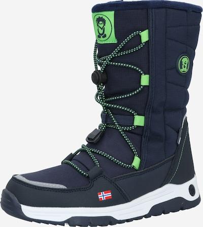TROLLKIDS Škornji   mornarska / zelena barva, Prikaz izdelka