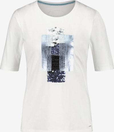 TAIFUN T-shirt en bleu / gris / noir / blanc naturel, Vue avec produit