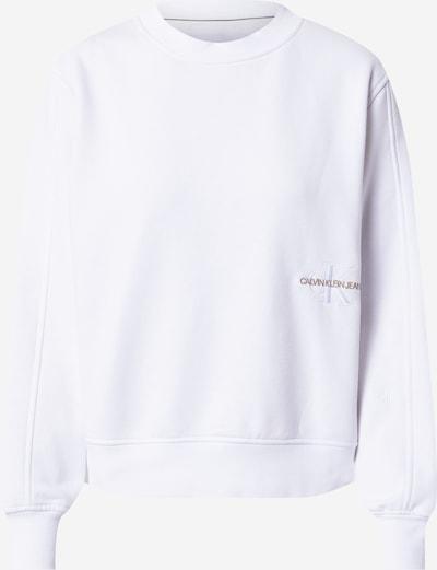 Calvin Klein Jeans Sweatshirt i guldgul / vit, Produktvy