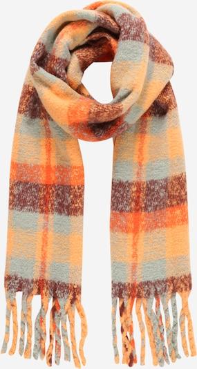 PIECES Schal 'Eike' in hellblau / orange / hummer, Produktansicht