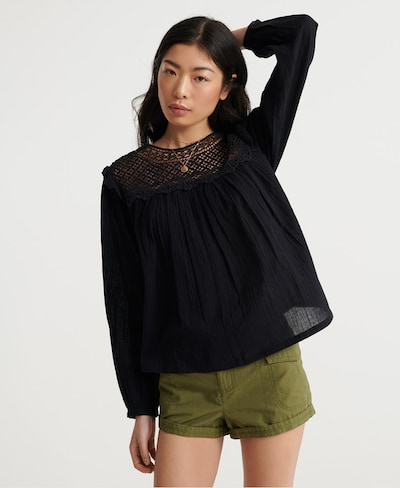 Superdry Blouse in Black, View model