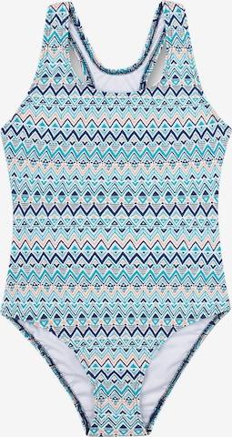 SANETTA Kinder Badeanzug mit UV-Schutz in Blau