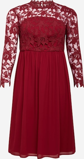 Chi Chi Curve Dress 'Bardot' in burgundy, Item view