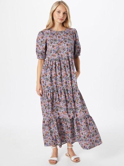 NÜMPH Kleid 'CHRISTO' in beige / dunkelblau / oliv / helllila / dunkelorange, Modelansicht