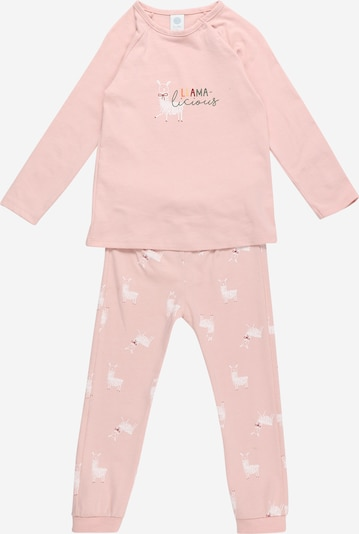Pijamale SANETTA pe roz pal / roșu / negru / alb, Vizualizare produs